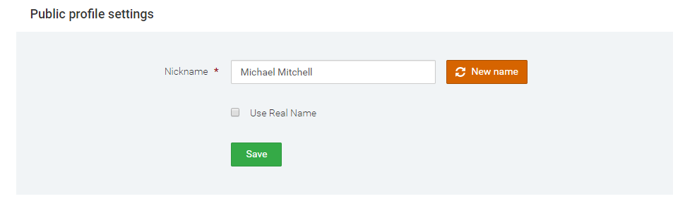 Hide real name on IqOption