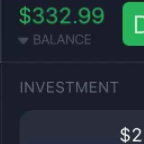 332 USD balance on IqOption