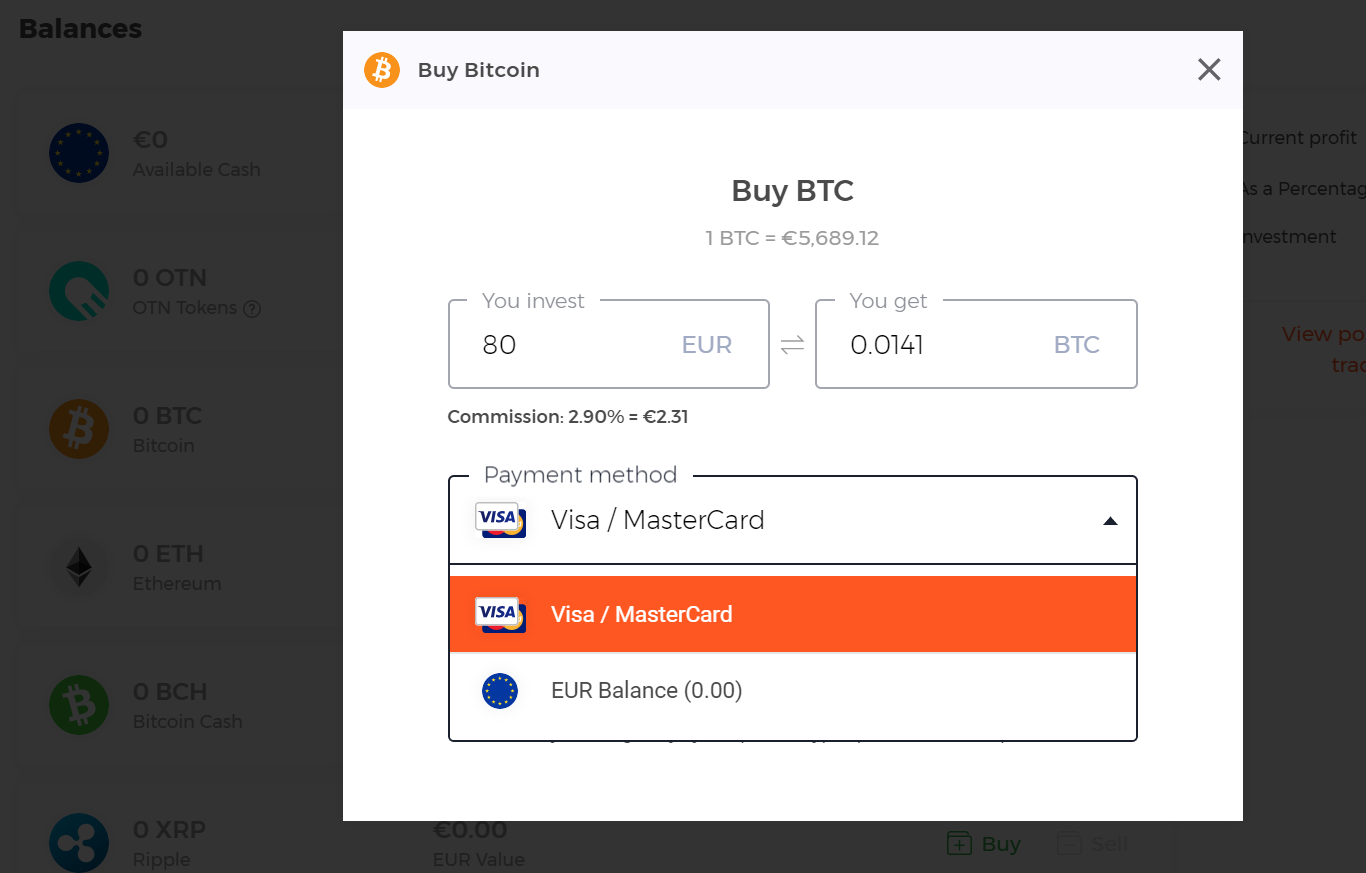 how buy crypto from iqoption balance