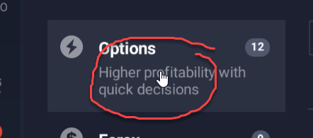 options selection