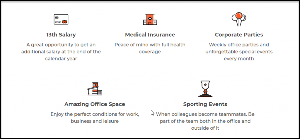 iqoption office benefits