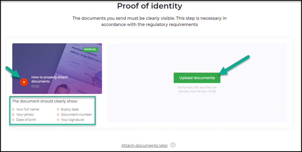 iqoption verification proof of identity