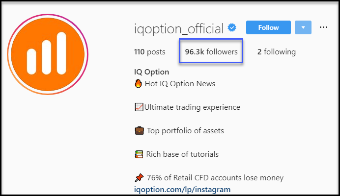 IQ Option Instagram Followers