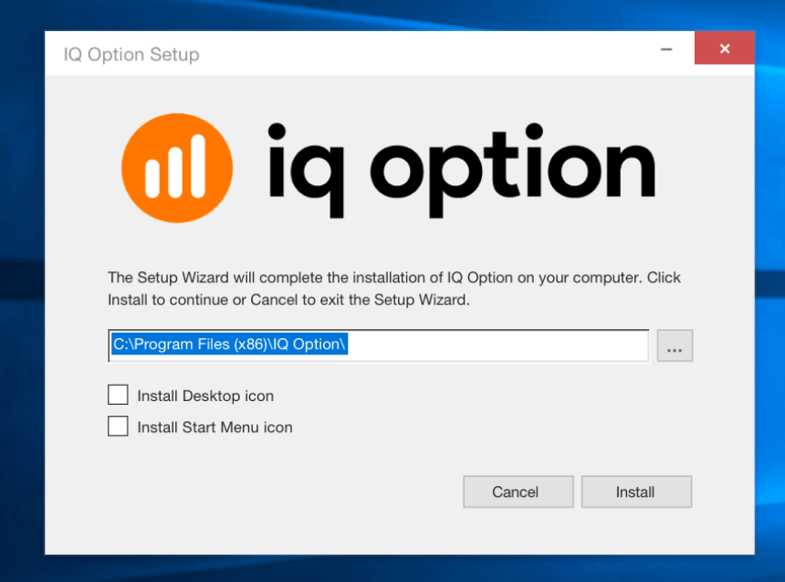 install iqoption msi file