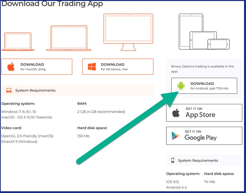 iqoption download android apk