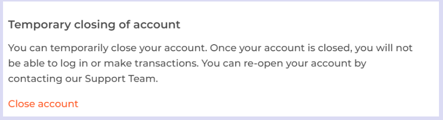 Iqoption temporary closing of account