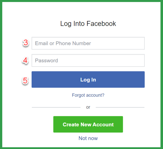 Iq Option & facebook login after registration