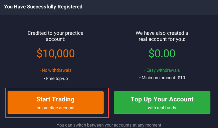 Iq Option how to open real account