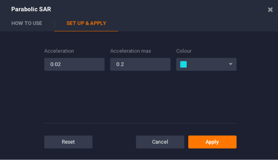 Adjusting the acceleration and acceleration max settings