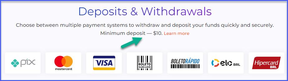 IqOption deposit limits